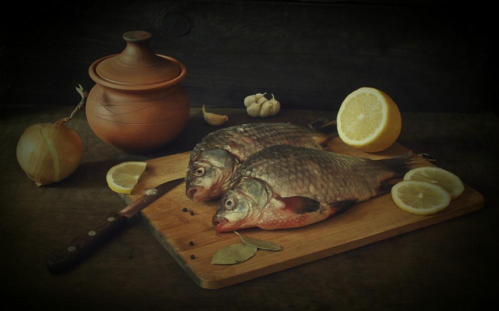 картинки натюрморт с рыбой можно