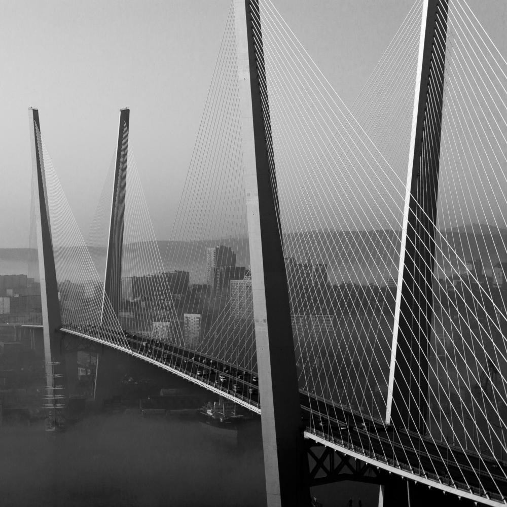 черно-белые картинки фото мост заставить женщину