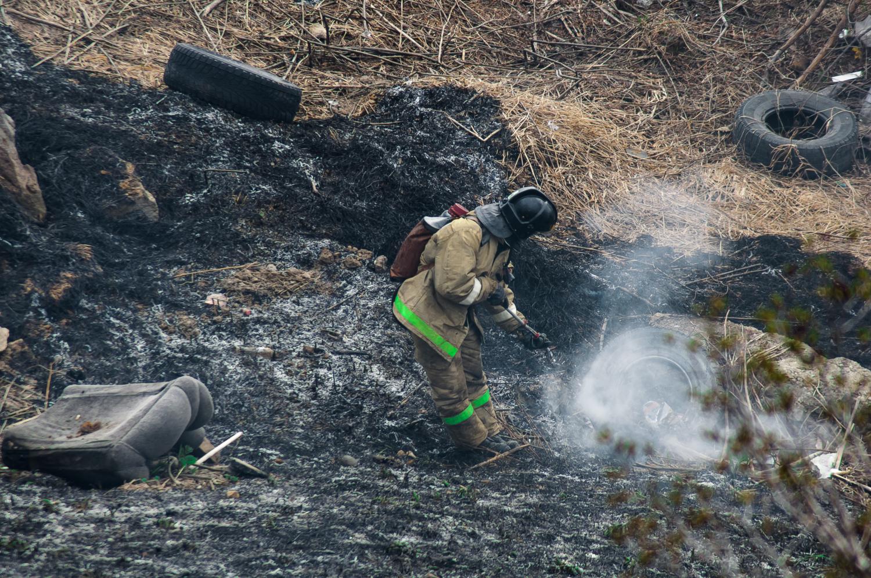 Обычные будни пожарного