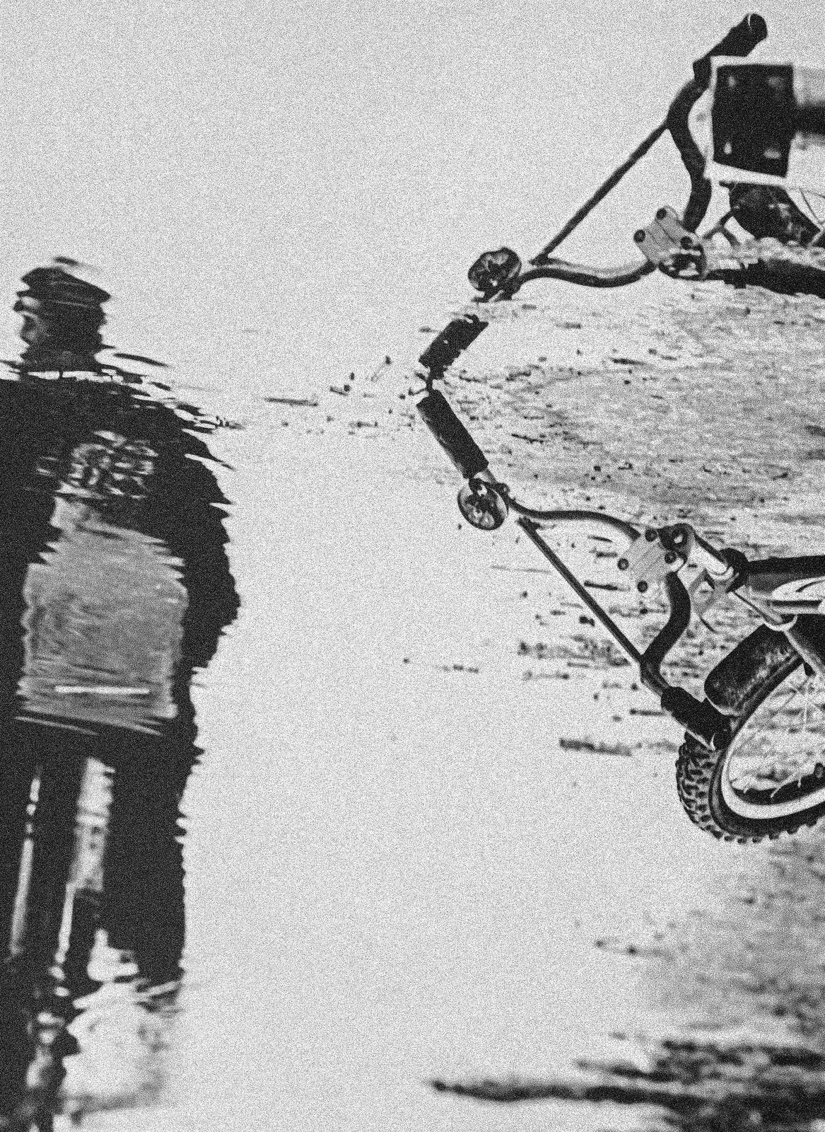 О лете, луже и  велосипеде  ..