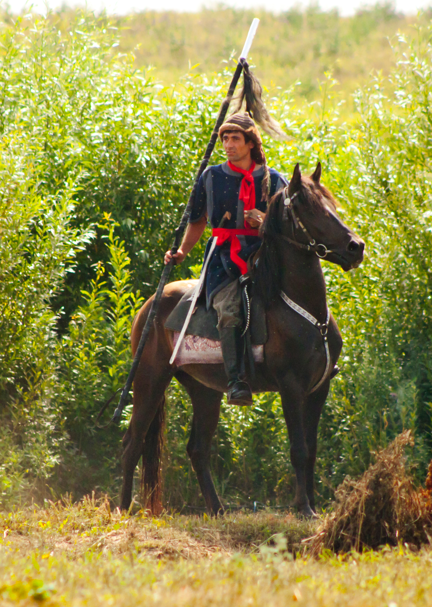 Монголо-татарский воин. Постановка