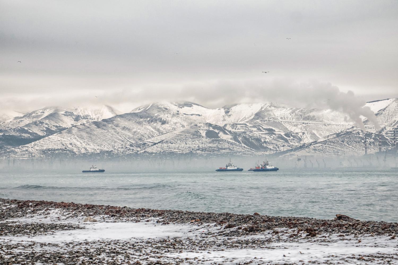 Зима в Цемесской бухте