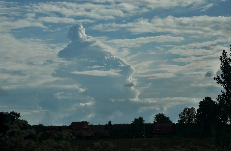 После заката прибыл вождь Большое Облако