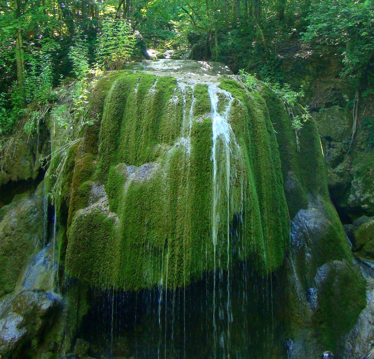 Водопад Серебряные струи, до его разрушения.