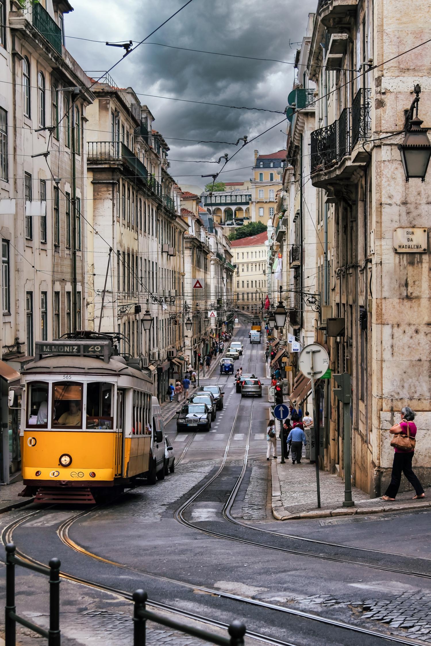 На старых улочках города. Лиссабон