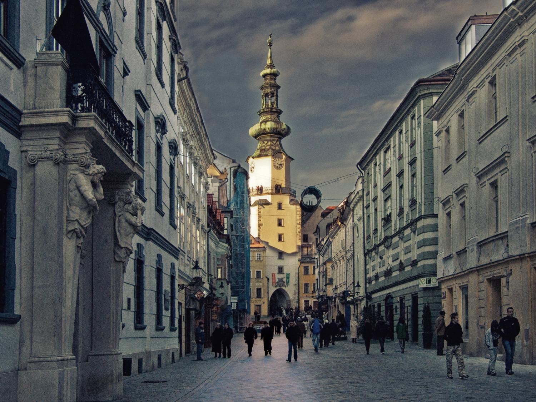На улочках Братиславы