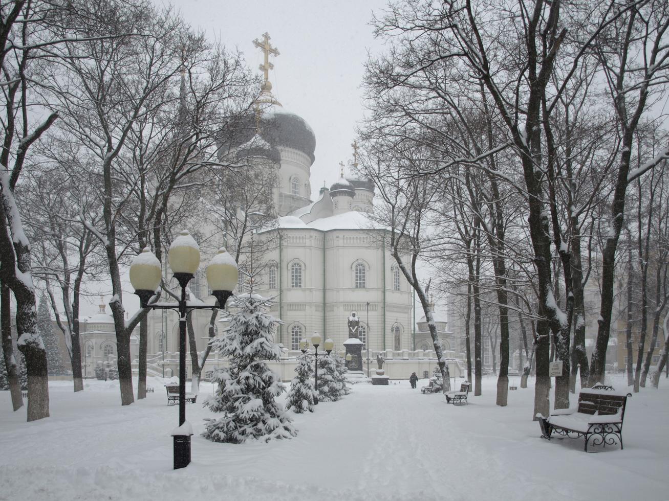 Сквозь снежную пелену.