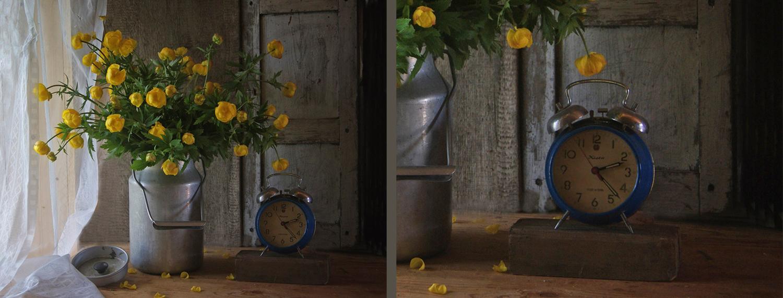 Букет или часы)