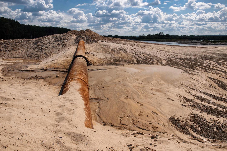 Магистральный пескопровод.