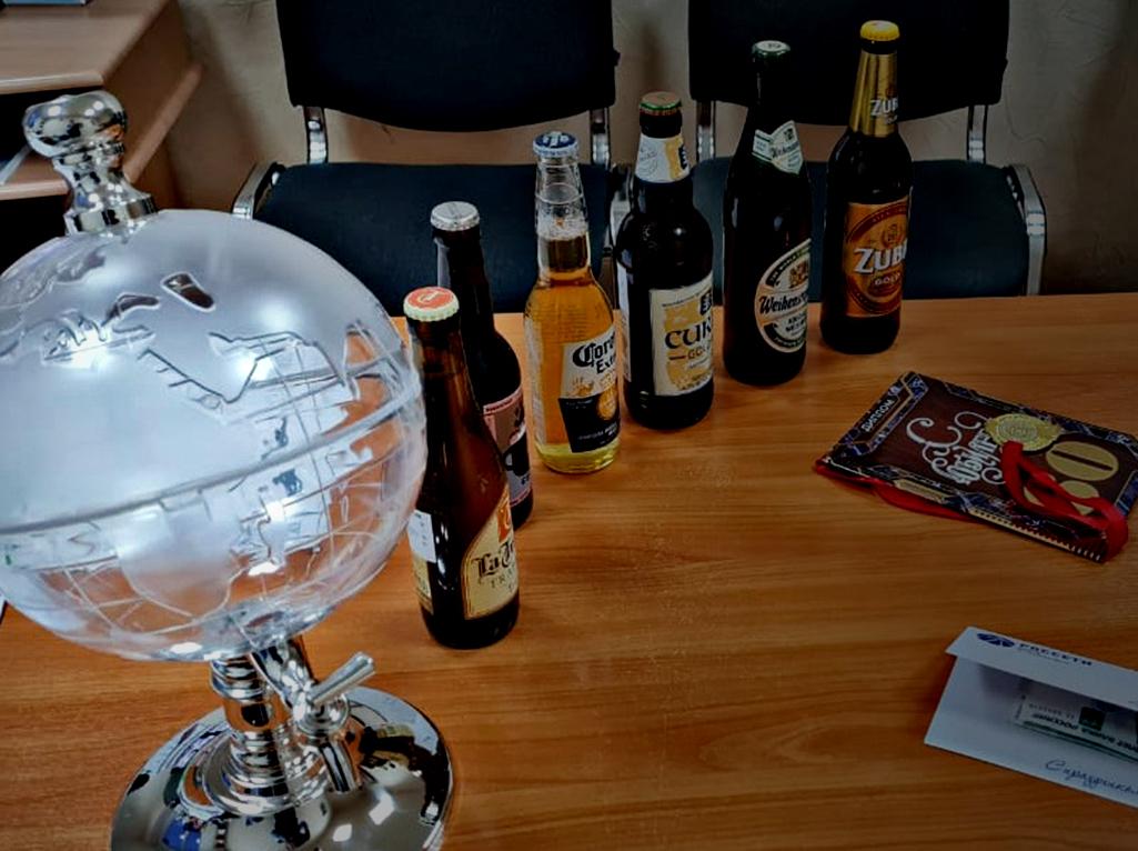 Глобус напитков в подарок