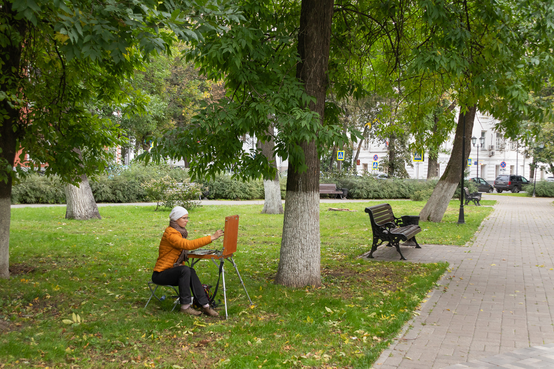 Городская художница