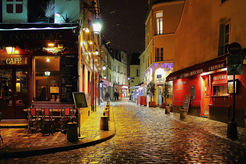 Ночной Монмартр.