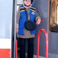 Добрая хозяйка трамвая.