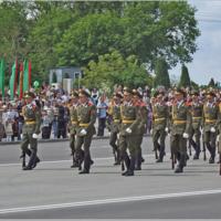 Марш на параде