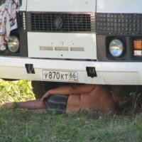 Хорошо в жару водителю автобуса