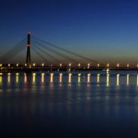 Вантовый мост.Рига.
