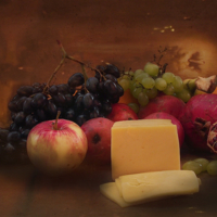 Сыр с фруктами