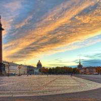 Закат над Дворцовой площадью.