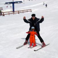 На лыжах с папой