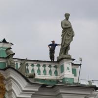 На крыше Эрмитажа. С- Петербург