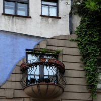 Балкон знаменитого дома