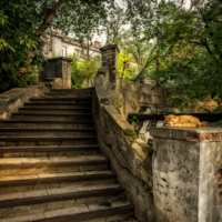 Лестница в старом городе