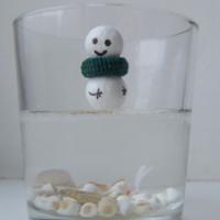 """Снеговик на льду """"озера"""""""
