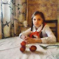 Девочка с яйцами.