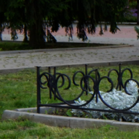 Клумба на площади