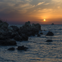 Закат на Корфу