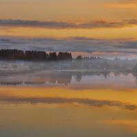 Карельское утро туманное