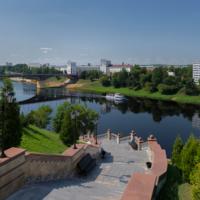 Лестница к Успенскому собору. Витебск.