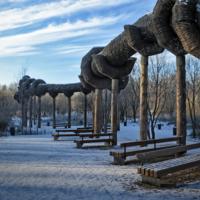 Лэнд-арт нашего парка