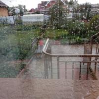 Окно в дождь...