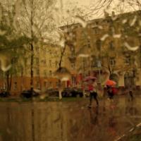 в городе дождь..