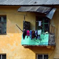 На старом балконе