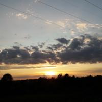 Заходящее солнце