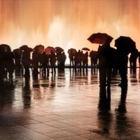 Фонтан под дождем
