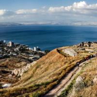 Море Галилейское с горы Береника
