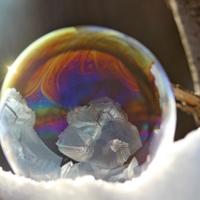 Волшебный узор на мыльном пузыре