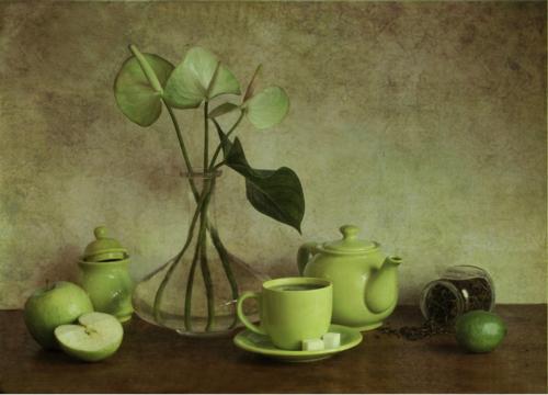 Зеленый чай...
