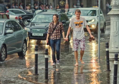 Мокрые и счастливые.