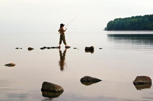 Том Сойер на рыбалке...