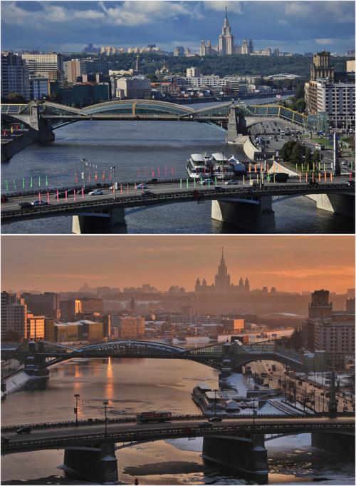 Москва, река и Воробьевы горы...