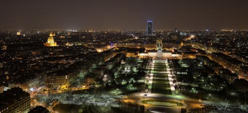 Ночной Париж, огней сияние